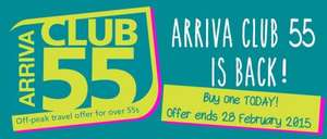 Arriva train Club 55 deal