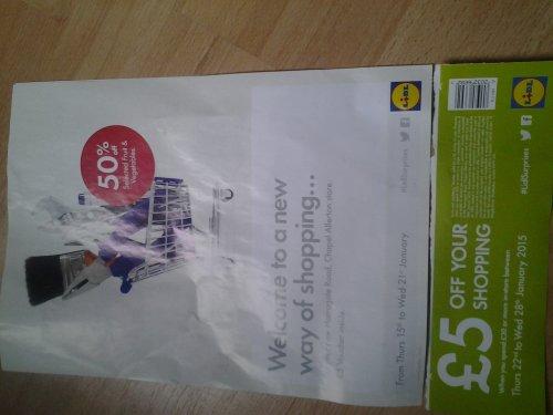 Lidl Chapel Allerton Leeds £5 off £30 spend 22-28 Jan