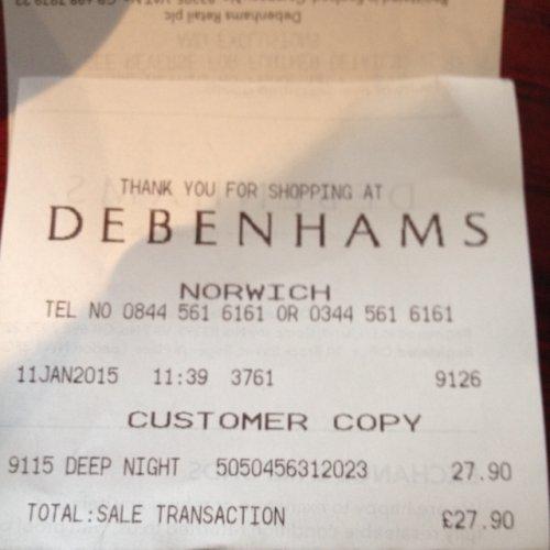 Ghost Deep Night 75ml @ Debenhams, £27.90