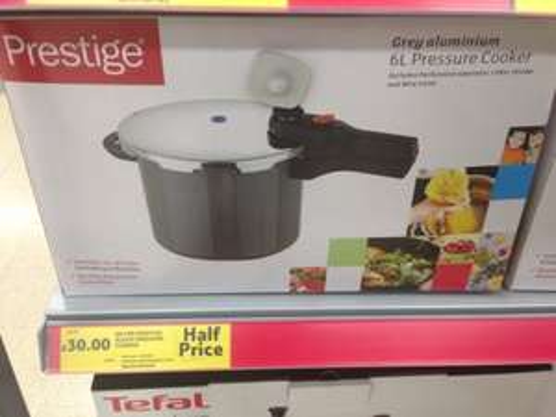 Prestige 6L pressure cooker aluminium £30 @ Tesco