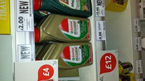 castrol edge 0w-30 £9.00 in tesco