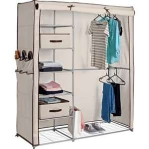 Metal and Polycotton Triple Wardrobe In Cream or Black £27.99 @ Argos