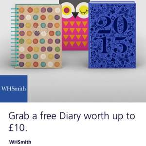 Free diary @ WH Smith (o2 Priority)