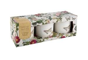 Set of 3 ceramic pots butterfly design £2 Tesco direct free C&C