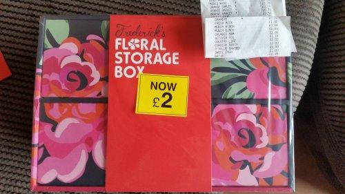 Floral storage box, 4p (was £2) @ Tesco instore