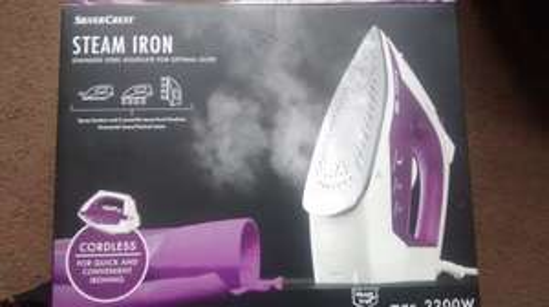 Silvercrest Steam Iron Cordless 2200w £14.99 @ Lidl
