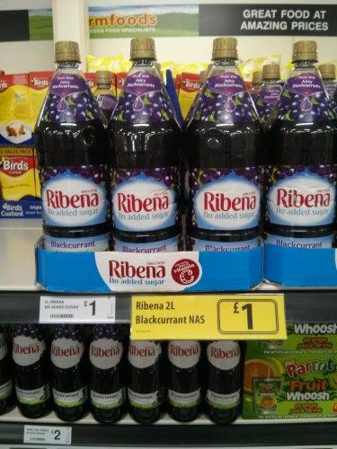 Ribena 2L No Added Sugar £1 @ Farmfoods