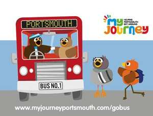 Free day bus travel in Portsmouth. Must be car owner and live PO1 - PO6