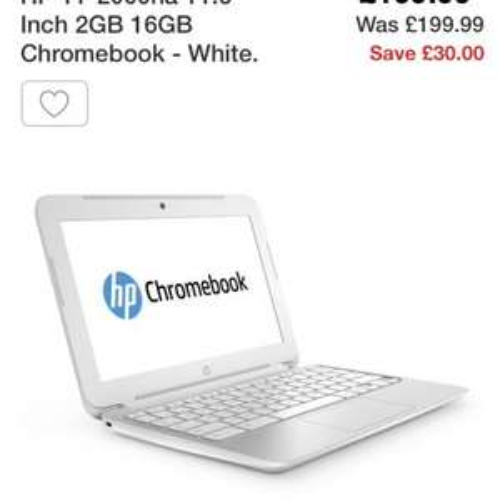 HP 11-2000na Chromebook £169.99 @ Argos
