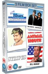The Blues Brothers/Animal House/Stripes DVD Boxset (NEW) £2.99 Delivered from zoomonline @ eBay