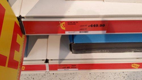 LG 4K 42inch TV @ Sainsburys instore £449. Model number 42ub820v