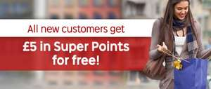 FREE £5 (in Rakuten Super Points) to every new customer @ Rakuten.co.uk