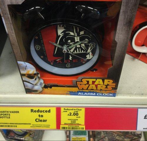 Star Wars Darth Vader Alarm Clock £2 @  Tesco instore