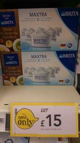 Brita maxtra 6 pack £15 at wilkinsons
