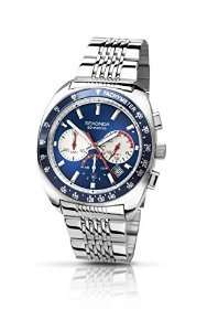 Sekonda Men's Quartz Watch with Blue Dial Chronograph Display and Silver Stainless Steel Bracelet - £20.16 Amazon