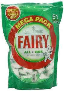 Fairy Dishwasher Tablets 51 pack £4.99 @ Savers