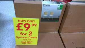 Pair of Dining chair, £9.99 instore & online @ Dunelm
