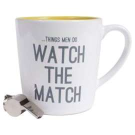 Watch the Match Mug and Whistle set, £1.88 reduced from £7.50 at Tesco Direct free click and collect