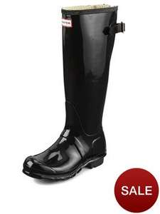 Hunter Womans Adjustable Tall Wellies with Gloss Finish £31.20 at Very