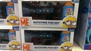 Despicable Me Minons Bath Fun Set - water gun and soap is £11.99  Amazon and only £1.99 B&M!