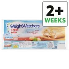 Tesco 50p Tesco  Weight Watchers Petit Pain 4 Pack