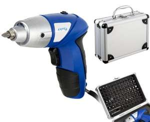 Xenta 3.6V Lithium-ion Cordless Screwdriver with 104 Piece Accessory Kit £14.99 delivered @ Ebuyer