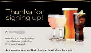 FREE Drink at some Marston's restaurants when you sign up to their newsletter