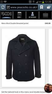 men's wool double brested jacket £12 @ Peacocks (in store)