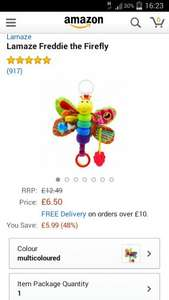 Lamaze Freddie The Firefly babies toy £9.80 delivered @ Amazon (£6.50 with £10 spend/prime)