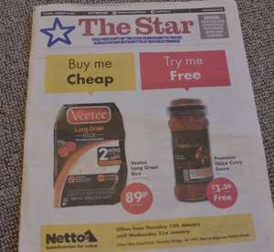 Buy Veetee long grain rice 300g £0.89 and get Premieur Tikka Curry Sauce FREE(other offers) @ Netto