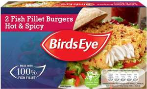 Birds Eye Hot & Spicy Fish (Alaska Pollock (56%) Fillet Burgers (227g) was £2.50 now £1.50 @ Tesco