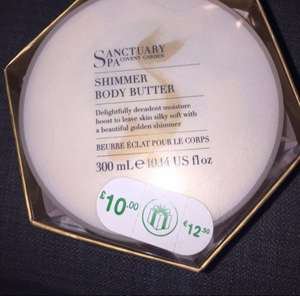 Sanctuary shimmer body butter £3 @ Boots (in store and online)