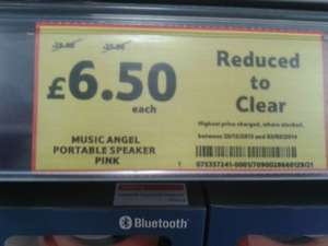 Music Angel Friendz Portable Pink Stereo £6.50 @ Tesco Instore