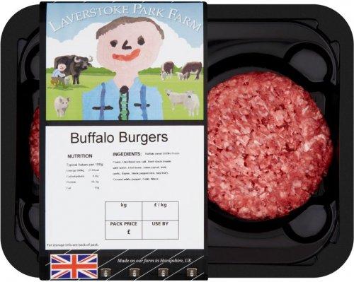 Laverstoke Park Farm Buffalo Burgers (GLUTEN FREE) (228g) was £3.99 now £1.99 @ Waitrose