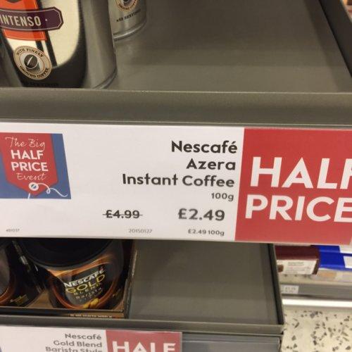 Nescafé Azera 100g - £2.49 @ Waitrose instore