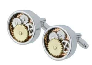 Skeleton Dial Cufflinks - Argos -Was £14.99 now £2.49