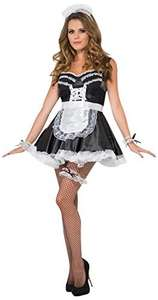 French Maid Set with Lace Cuffs Hat Apron and Garter - From £3.36 Delivered - Amazon (Fancy Dress For All)