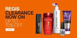 January Sale, up to 70% off @ Regis Salon online. Prices starting from £2 and free delivery on orders over £25