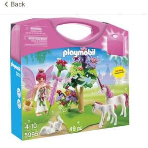 Playmobil fairy & unicorn carrying case £6.89 Tesco