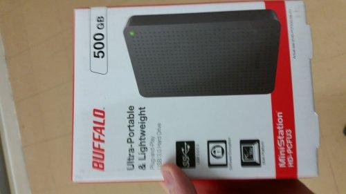 Buffalo 500GB Hardrive £9.90 @ Tesco instore