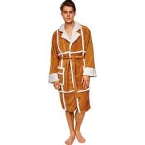 Only fools and horses: Del Boy Adult Fleece dressing gown Robe (camel jacket style) half price argos £14.99 DELBOY