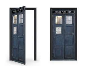 Tardis Vinyl Sticker DoorWrap @ Rakuten (Vinyl Revolution) £37.94 delivered using code JANGIFT10