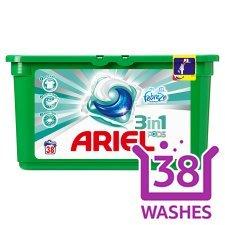 38 Ariel PODS Original or Febreze Laundry washing capsules @ ASDA