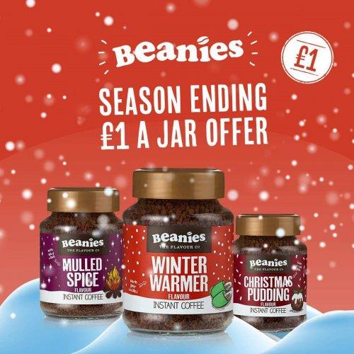 Beanies festive coffee £1
