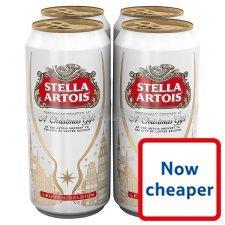 Stella Artois 4X440ml for £3.54 @ Tesco