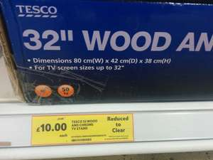 """Tesco 32"""" Chrome and Glass TV Stand - £72 down to £10"""