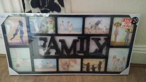 family photo frame £4.99 @ B&M