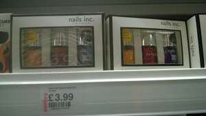 nails inc - pack of 3 full size nail polishes £3.99 @ Savers