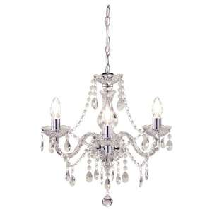 Marie Therese 3 arm chandelier Chrome or Black £16.50 - Tesco Direct