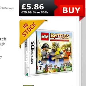 Lego battles Nintendo ds game £5.86 @ Shopto